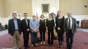 With CCSU music faculty and student composers