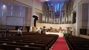 Inside Coral Ridge Presbyterian's main sanctuary