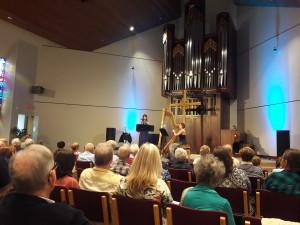 Apple Orange Pair performing in Coral Ridge's chapel